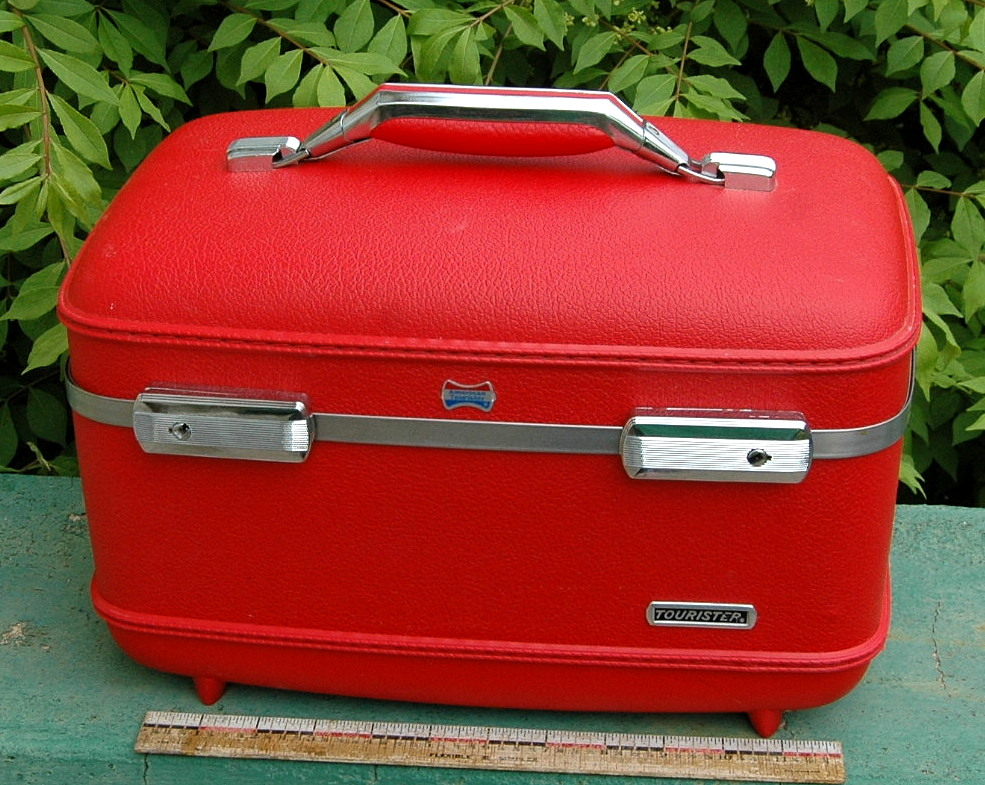 lovely vtg american tourister vanity cosmetictrain suitcase luggage
